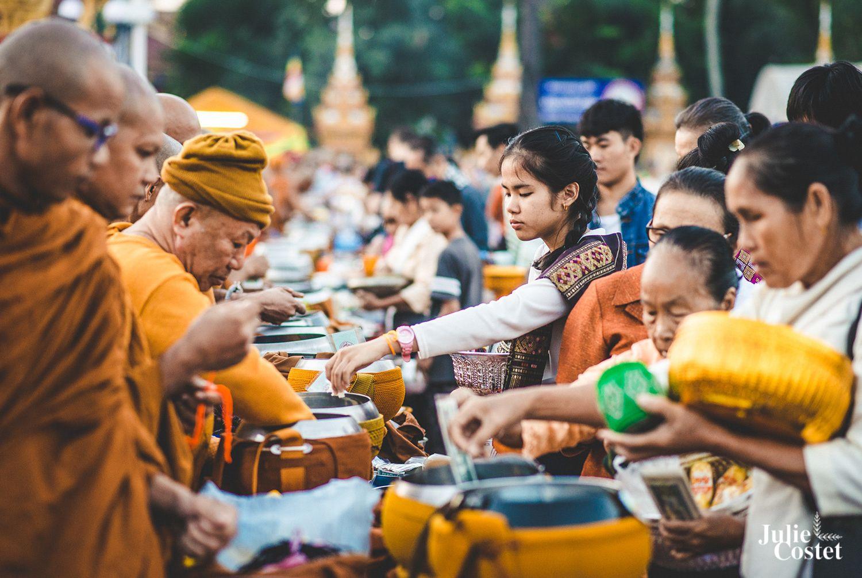 Reportage photo à Vientiane, le That Luang Festival