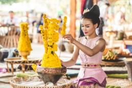 Femme qui fais le Mak Beng à Vientiane