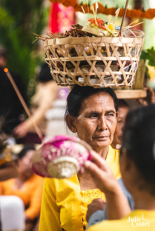 Cérémonie à Bali