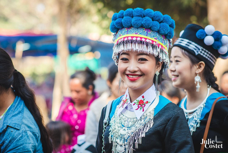 Femme de l'ethnie Hmong au Laos