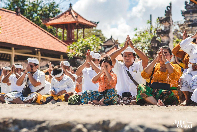 Cérémonie religieuse à Bali