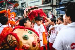 Fêtes chinoise à Yangon en Birmanie
