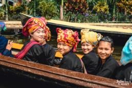 Femmes de l'ethnie Pa'O le lac Inlé en Birmanie