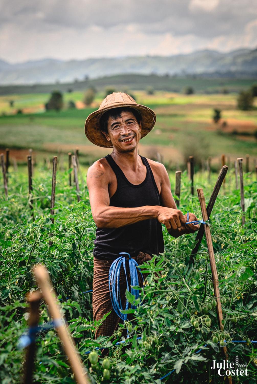 Villageois en Birmanie